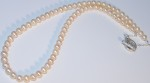 Lombok Pearl necklace with organic T-bar catch